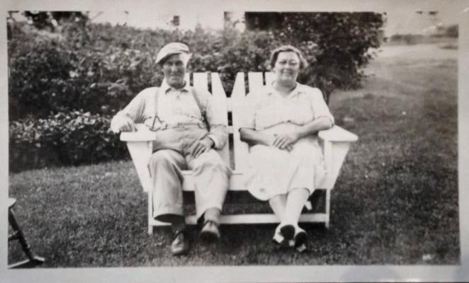 Cheryl Van Horn's grandpa and grandma