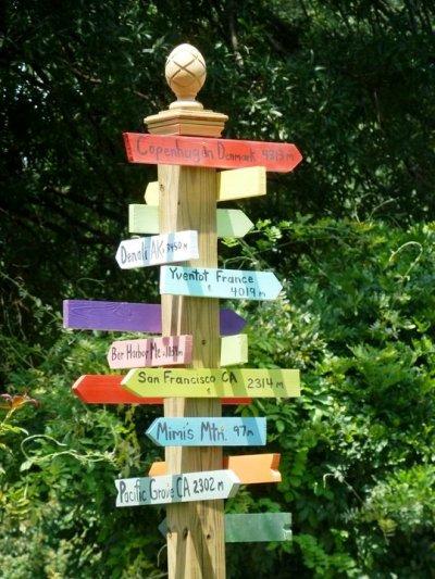 Lynn Paterson's fun directional sign!