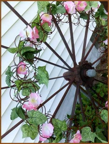 See what Nancy came up with,...a trellis for a vining plant in Spring!