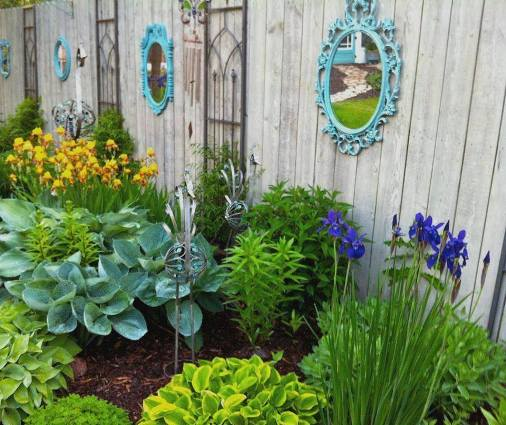 Ann Elias's mirrored fence