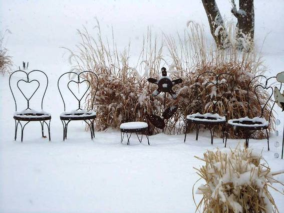 Connie Farris's icy ice cream chairs
