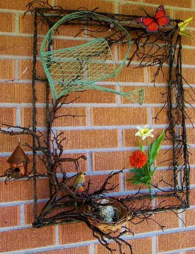 Linda Cahill's rustic metal frame