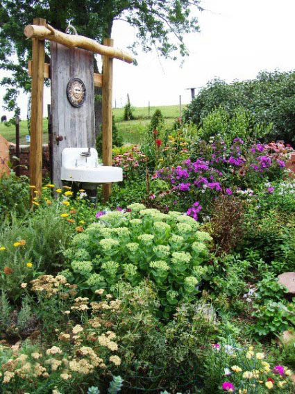 Linda LoBianco's sink in the garden needs a tub maybe??