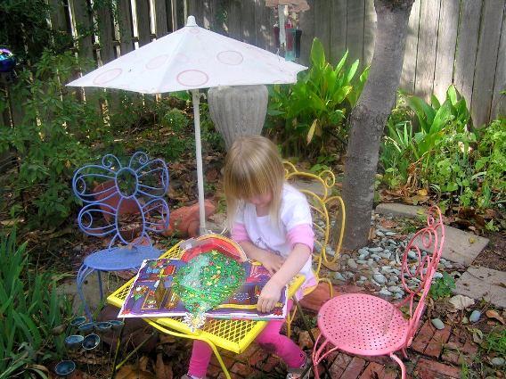 Sydney Minor's tiny garden furniture