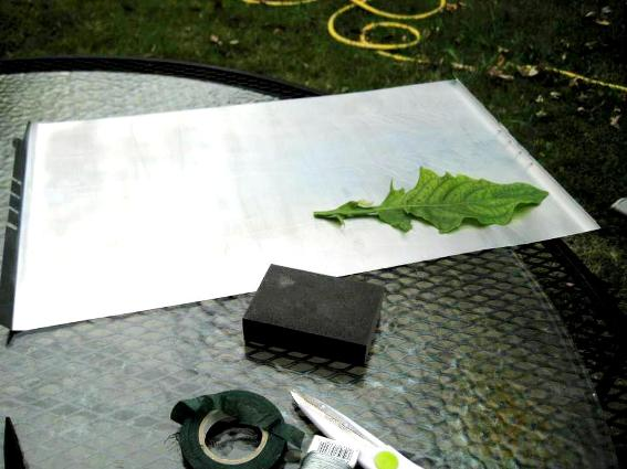 Making the leaves