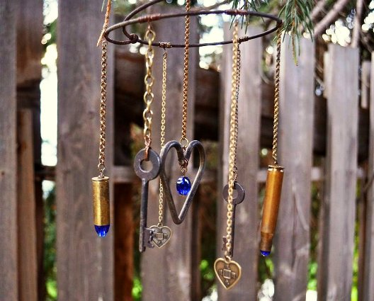 home made wind chimes