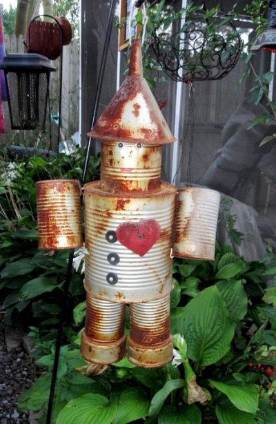 Nadine Gurto's tin man with a heart