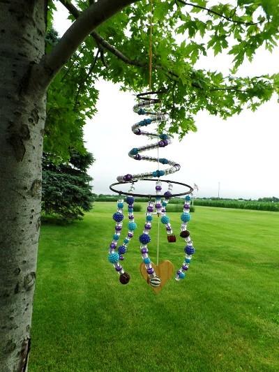 Nancy K Meyer's spring and bead suncatcher