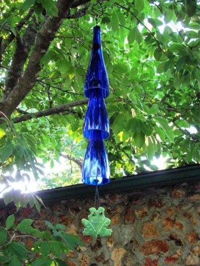 Sandra Parrill's wine bottle chime