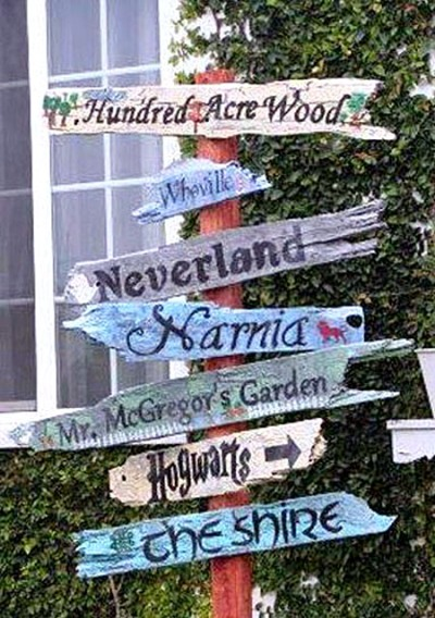 Directional Sign Posts For The Garden Flea Market Gardening