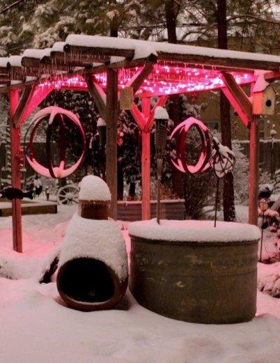 Barb Brashier's snowy retreat