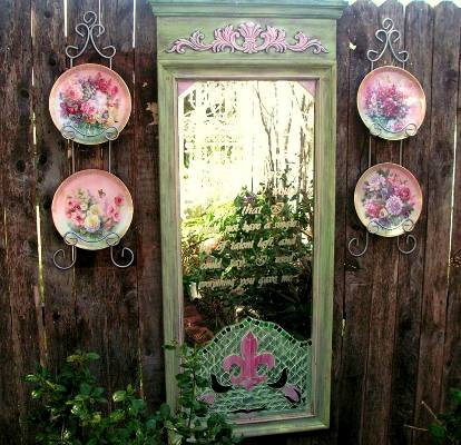 Becky Norris's garden mirror