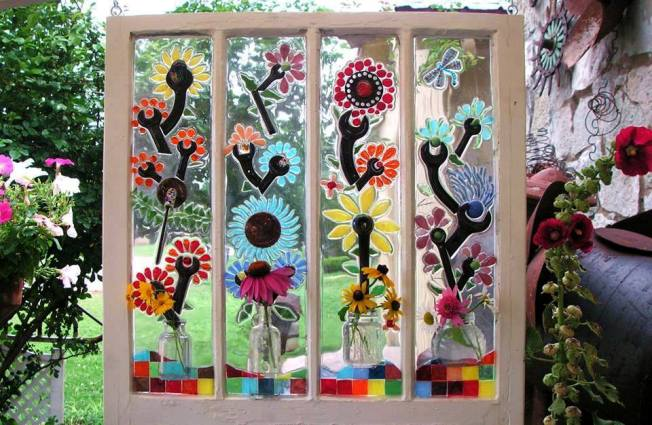 Garden Window Designs saveemail Becky Created This Beautiful Mosaic Piece