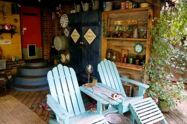 The back porch