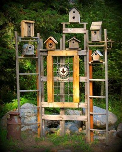 The bird house trellis. finished!