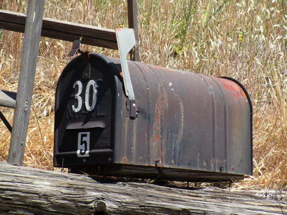 A friend snagged this mailbox for me