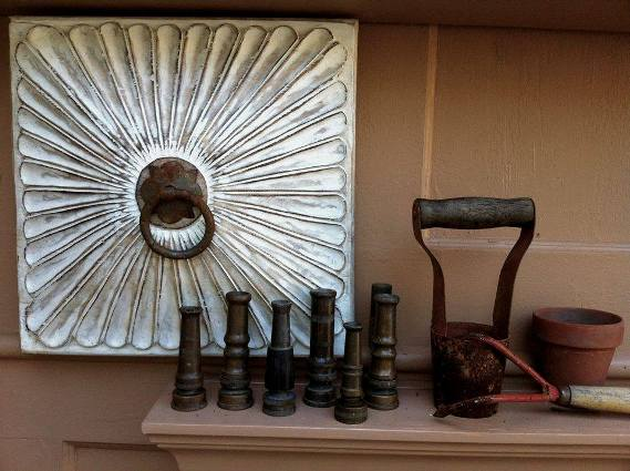 Ann Elias's vintage hose nozzles and tools