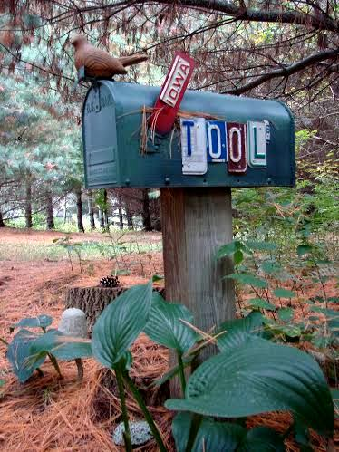 Jeanne's mailbox now can hold tools and save her the trip to the garage