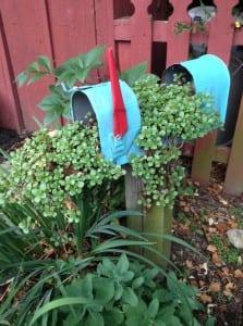 Myra Glandon's delightful mailbox gave me an idea