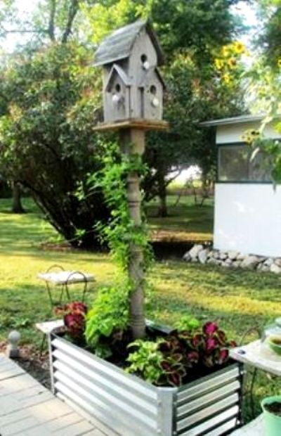 Make A Flea Market Bird House Post Flea Market Gardening