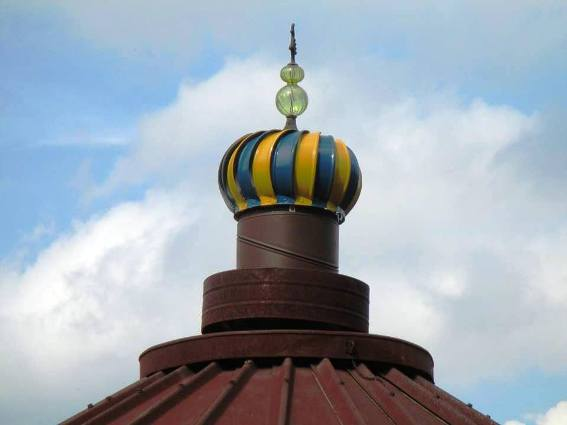 """‎This is the second turban on top of our corn crib gazebo."""