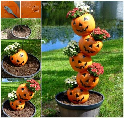 Tipsy Pumpkin Planter 'How to' by Jill Staake