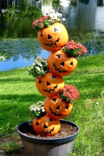 Tipsy Pumpkin Planter by Jill Staake