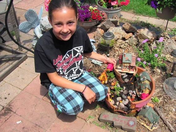 Brenda Propst made a Fairy Garden with her granddaughter! Fun times.