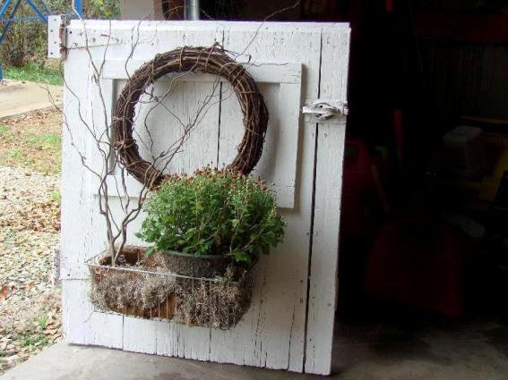 Jeanne Sammons's dutch door is an ideal rustic background