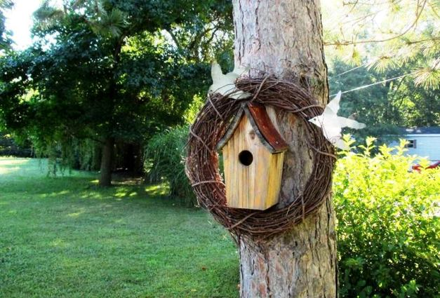Jeannie Rhodes's idea is simple and elegant with Stephie's birds