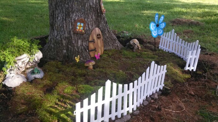 Stacy Green's garden started with a fence and a tiny door