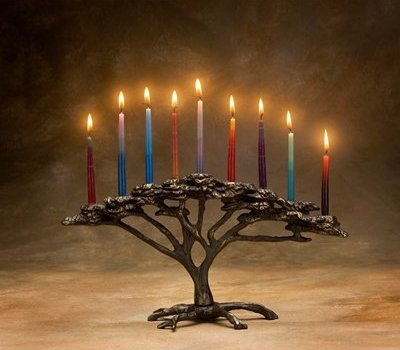 Tree of Life Menorah from Amazon