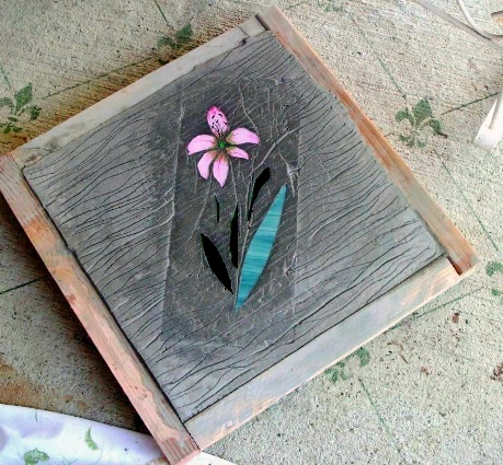 Becky's reverse stained glass process