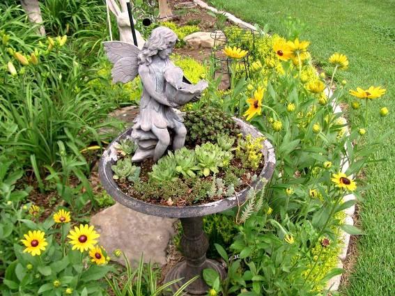 Brenda Propst's recycled birdbath