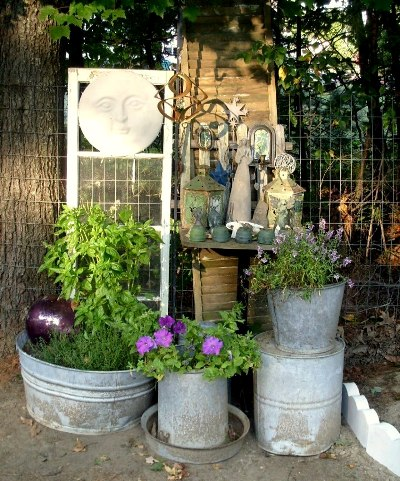 24 best fmg containers to look for now flea market gardening - Galvanized containers for gardening ...