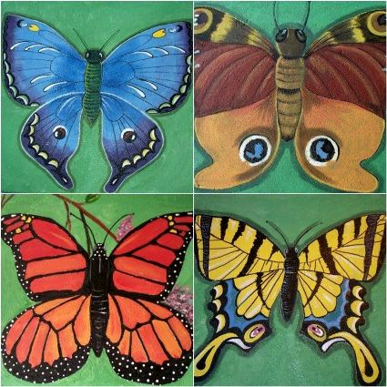 Four more of Sue Gerdes's butterfly designs
