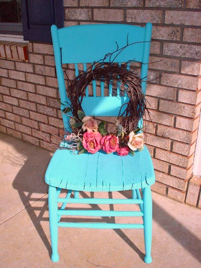 Sue Strazewski's finished chair