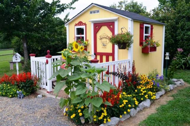 For a cottage garden, you need a cottage! Christy and her husband built it themselves.