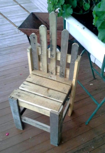 One small chair, ready to paint