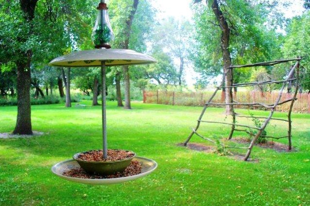 Sue Gerdes's whimsical bird feeder
