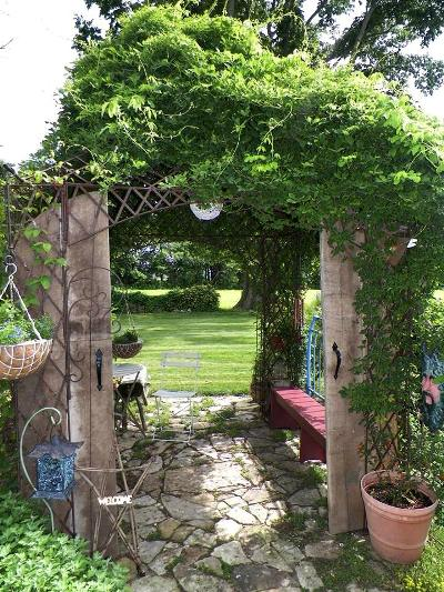 Beth Anderson's arbor with built in benches