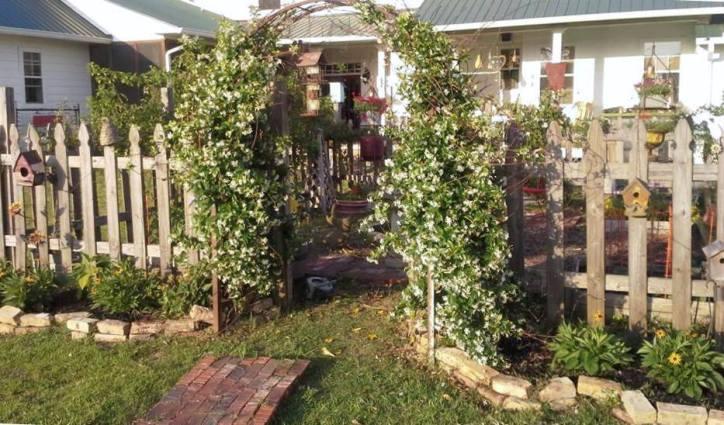 Billie Hayman's entry to her picket fence garden
