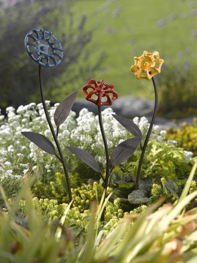 Faucet Handle Flowers, Set of 3