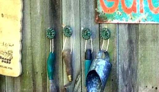 """Janet Waddell  """"I use the ones I bought at Hobby Lobby on my potting bench - not old, but hard to tell!"""""""