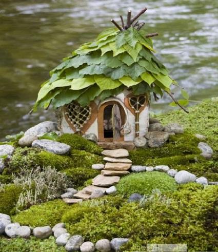 Leafy fairy House by Sally J. Smith