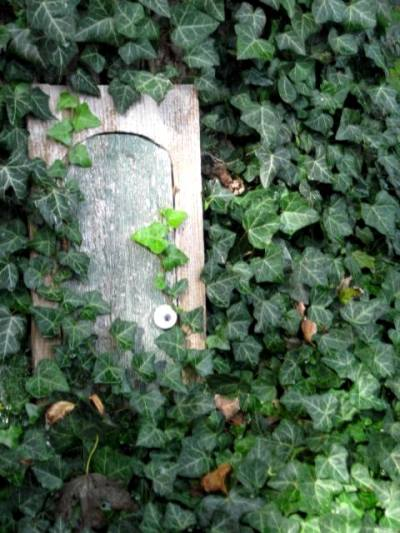 Sandy Bridenbaugh's enchanted entrance that leads to...