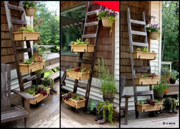 Garden Ladder Projects You Can Do Flea Market Gardening