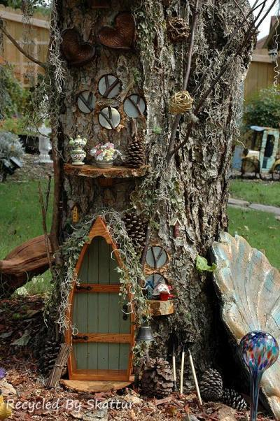 Sherry Law's tree house garden