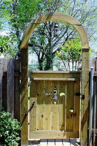 Sydney Minor's garden gate