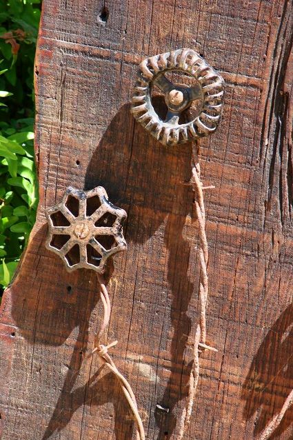 Garden Art Faucet Handle Flowers Flea Market Gardening